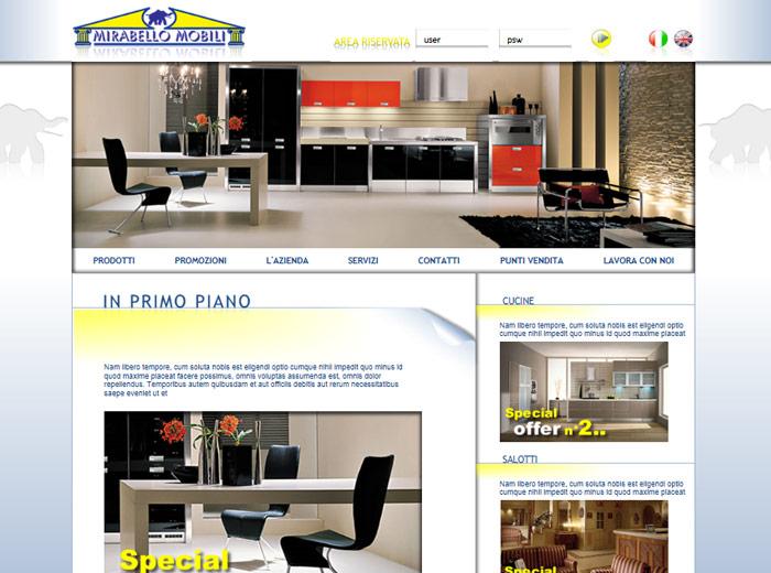 1 portfolio siti internet statici e dinamici - Mirabello mobili ...